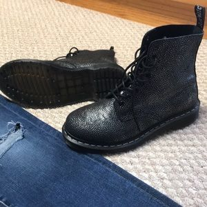 New Doc Martens metallic pebbled black and silver